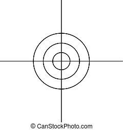 Rifle target sight