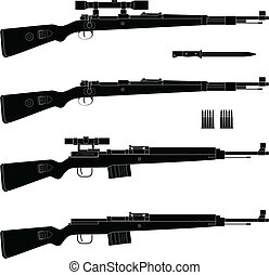 Rifle - Layered vector illustration of antique Germany...