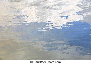 riflessione, cielo, struttura, increspature acqua, superficie, morbido