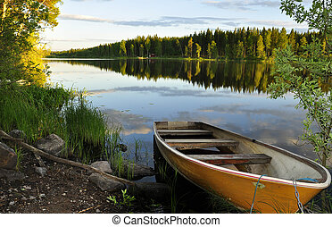 riflessione lago, calma