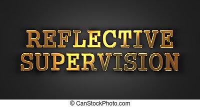 riflessivo, supervision., affari, concept.