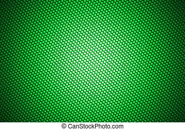 riflettore, su, verde, carbonio, fibra
