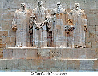 riforma, switzerland., monumento, ginevra