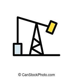 rig  flat color icon