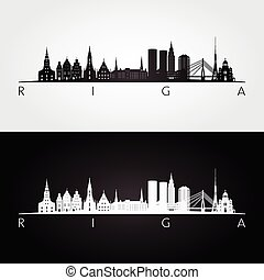 riga , γραμμή ορίζοντα , αξιοσημείωτο γεγονός , περίγραμμα
