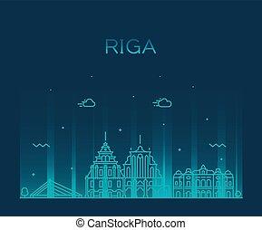 riga , εικόνα , γραμμή ορίζοντα , μικροβιοφορέας , καθιερώνων μόδα , λατβία