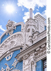 Riga Art Nouveau District - One of the many ornate buildings...