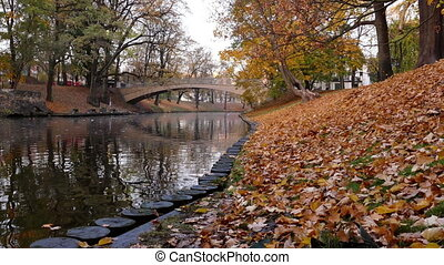Riga Canal in Autumn time - The Riga Canal in autumn time