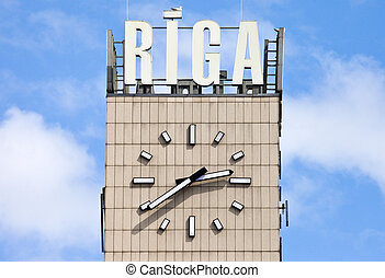 riga, central, reloj