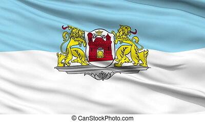 Riga City Close Up Waving Flag