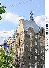 Riga. House in the city center