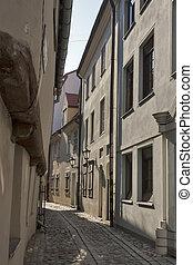 Riga narrow street