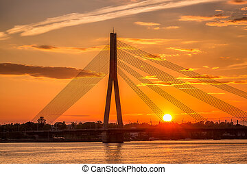 Riga sunset sky