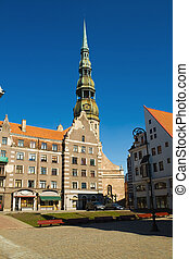 """Riga - capital of Latvia. """"Blackheads house"""" in old town"""