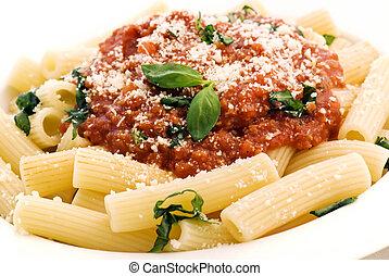 rigatoni, à, sauce tomate
