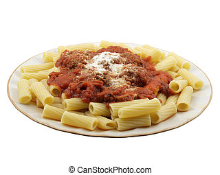 Rigatoni with Mini Meatballs - Rigatoni with tomato sauce ...