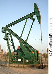 rigg, pump, olja, dagsljus