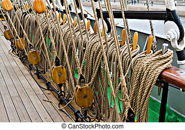 rigging for sail training ship