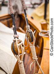rigging of a sailing boat