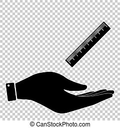 righello, centimetro, segno