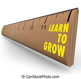 righello, -, imparare, crescere