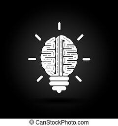 Right and left brain logo vector design.Creative brain idea concept background.Business idea and Education concept