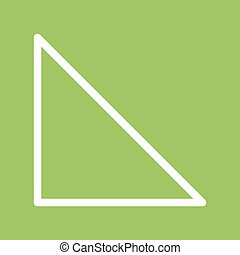 Right angle Traingle - Triangle, right, angle icon vector...