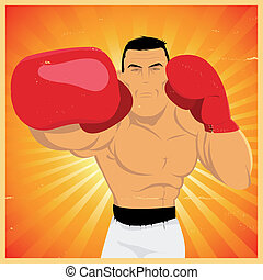 Right Arm Counterpunch And Knockout ! - Illustration of a...