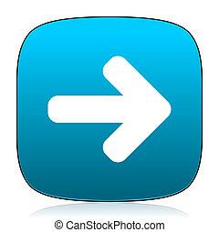 right arrow blue icon