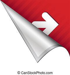 Right arrow corner tab