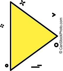 Right arrow icon design vector