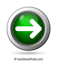 Right arrow icon. Internet button on white background
