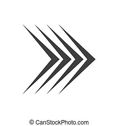 Right arrow icon. Vector illustration