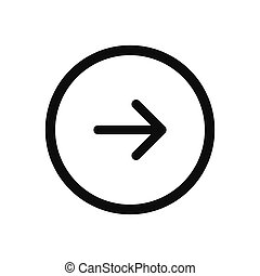 Right arrow, Next button vector icon in modern design style for web site and mobile app