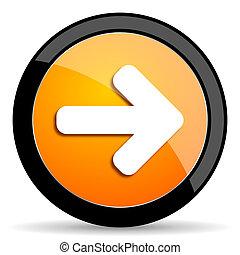 right arrow orange icon