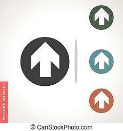 right arrow vector icon isolated on white background
