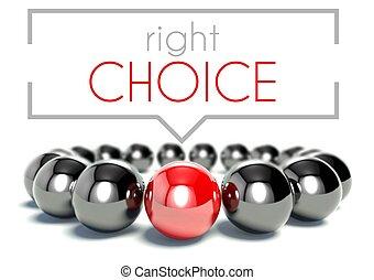 Right choice, business unique concept