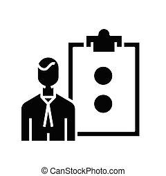 Right decisions black icon, concept illustration, vector flat symbol, glyph sign.