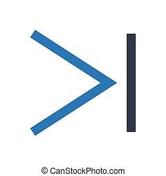 right  glyph color icon
