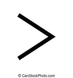 right  glyph flat icon