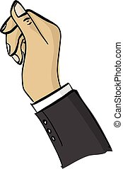 right hand of businessman vector illustration sketch doodle hand drawn with black lines isolated on white background
