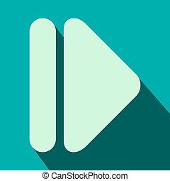 Right modern arrow flat icon