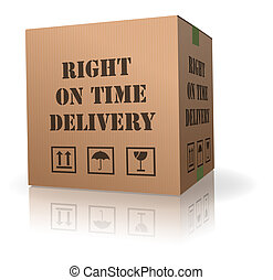right on time delivery shipment box logistic package sending