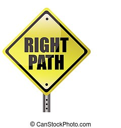 Right Path Street sign. Vector File available.