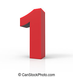 right red number 1