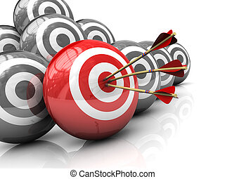 right target - abstract 3d illustration of right target...