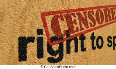 Right to speak censored