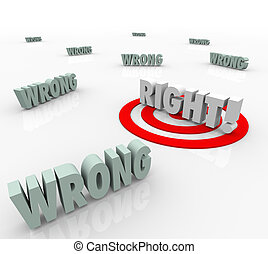 Right Vs Wrong Target Words Choose Correct Answer Choice