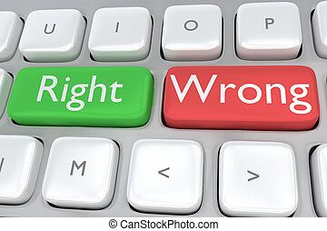 Right/Wrong concept