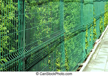 Rigid Mesh Fencing Panels Green Background